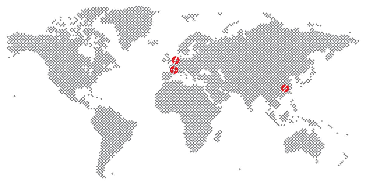 Carte des agences Spanninga