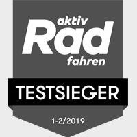 Logo Radtouren Testsieger grey