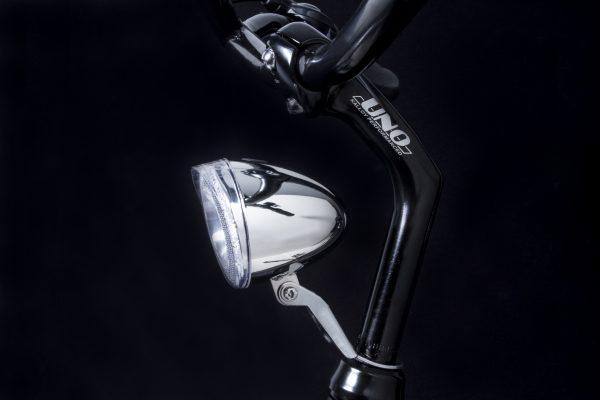 Swingo Xb chrome headlamp on headset with Br 300 bracket