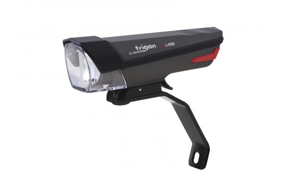 Trigon 25 Usb headlamp with Br 500 black fork bracket