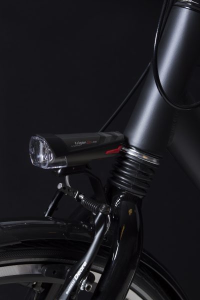 Trigon 25 Usb headlamp on front fork with Br 500 bracket