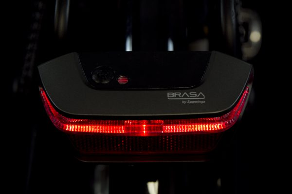 Brasa rearlight on carrier close up