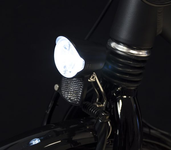 Brio headlamp on front fork