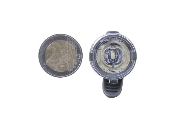 Dot Front headlamp with coin