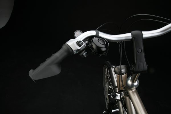 Easyring bell black on handlebar