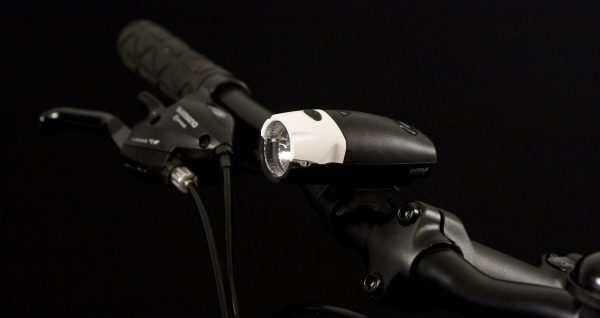 Goma headlamp on handlebar