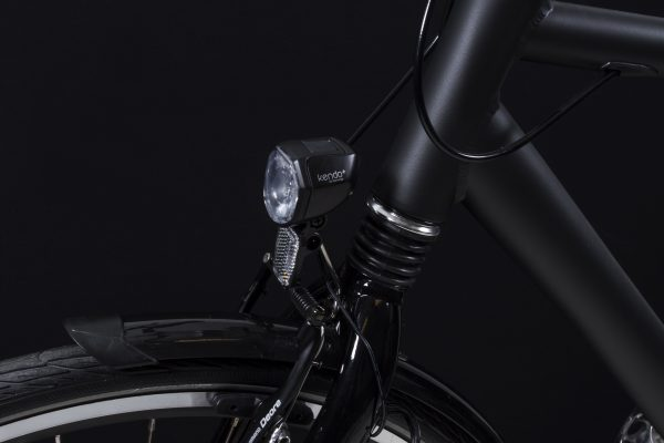Kendo+ headlamp black on front fork