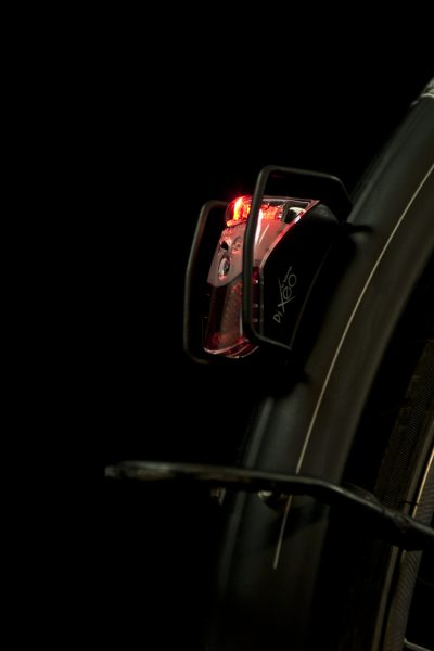 Pixeo rearlight on mudguard