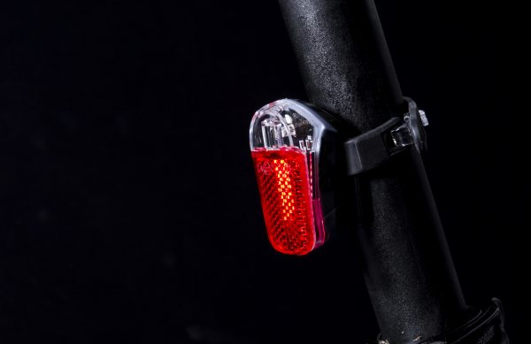 Pyro rearlight on seat post close up