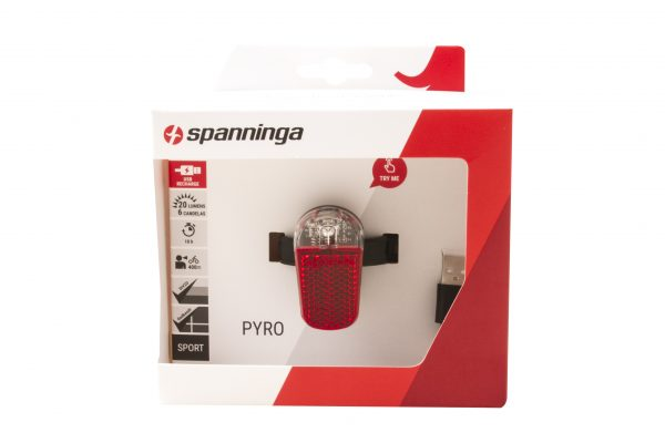 Pyro Usb rearlight package front