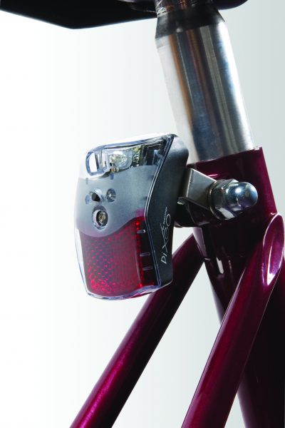Pixeo rearlight on seat post with Br 02 bracket