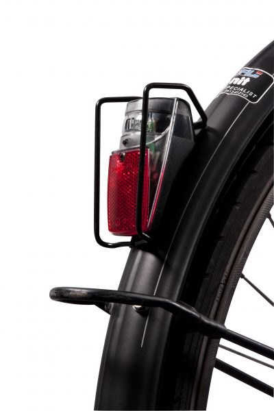 Spx rearlight on mudguard with Br 08 protector