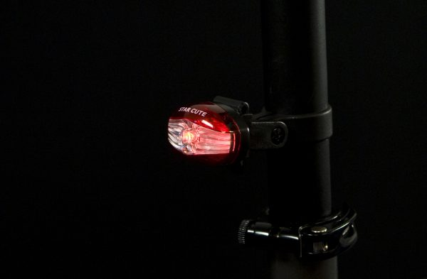 Star Cute rearlight on seat post