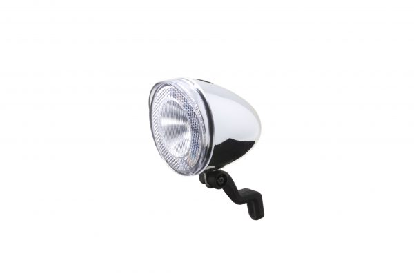 Swingo Xb chrome headlamp with front fork bracket