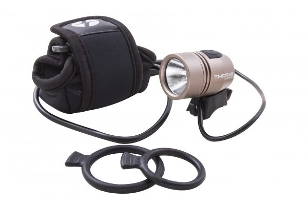 Thor 800 headlamp with battery pack and o-ring brackets