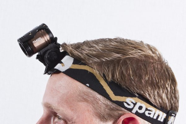 Thor 1100 on headband with adaptor