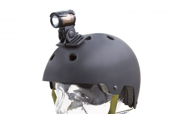 Thor 1100 on helmet with adaptor