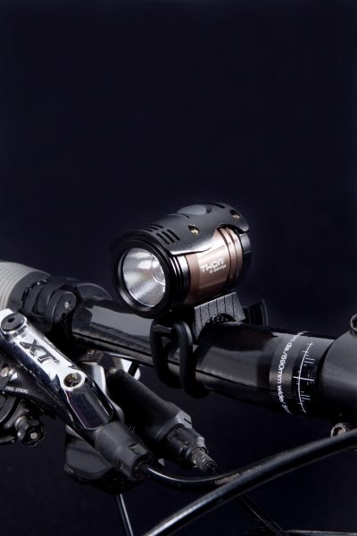 Thor 1100 headlamp on handlebar