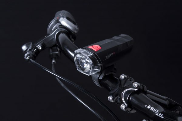 Trigon 10 headlamp on handlebar