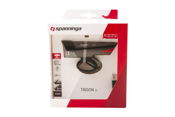 Trigon 25 USB headlamp package front