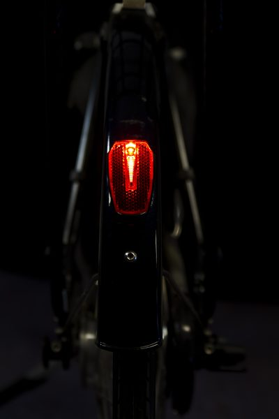 Vena rearlight on mudguard