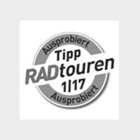 Logo Radtouren Ausprobiert grey