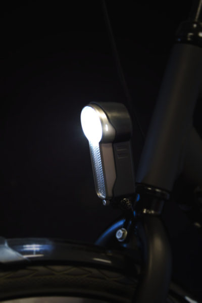 X-O headlamp on front fork
