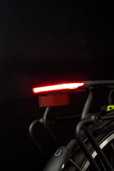 Commuter Glow rearlight on carrier from side