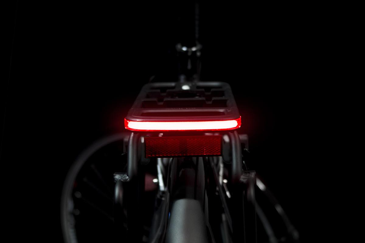 Glow on bike light on