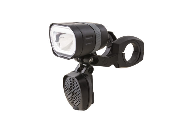 Axendo 100 Speed headlamp with BH520 bracket and Decibel horn closed