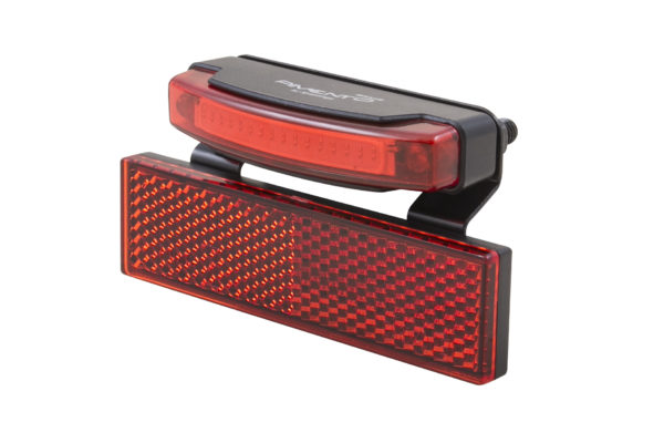 Pimento Speed rearlight with RR02 reflector and brake light side view