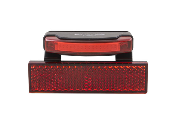 Pimento Speed rearlight with RR02 reflector and brake light front view
