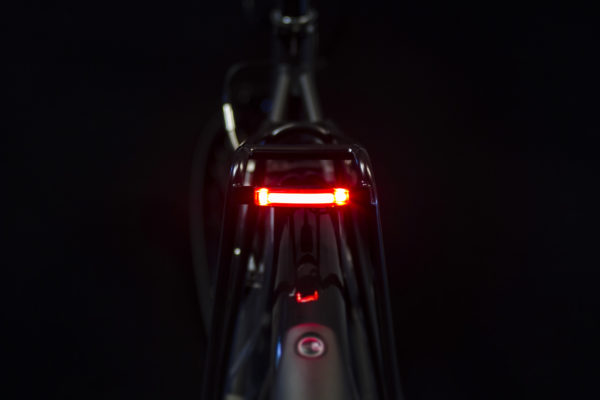 Pimento Speed rearlight for speed e-bike on bike with light and brake light on