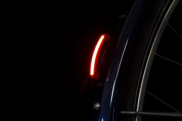Pimento-Guard rearlight on mudguard on