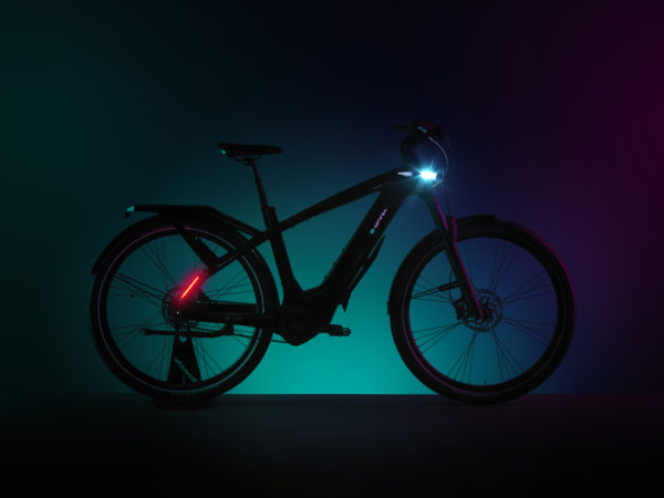 Bianchi eOmnia integrated headlamp and rearlight