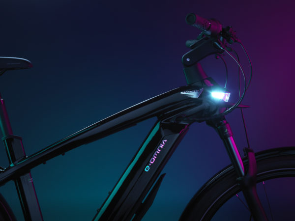 Bianchi eOmnia integrated headlamp